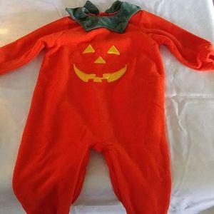 CHILDS PUMPKIN COSTUME SLEEPER